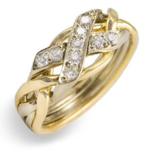 4N Ladies 14K  w/ Diamonds