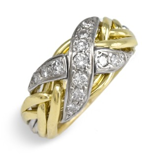 6NX Ladies 14K White &Yellow Gold w/ Diamonds