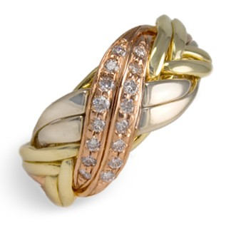 8BWN-WB Ladies 18K Gold w/ Diamonds