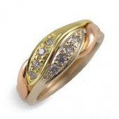 3CHWB-D Ladies 18K Yellow Gold w/ Diamonds