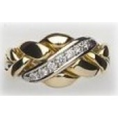 4C1 Ladies 14K Gold w/ Diamonds