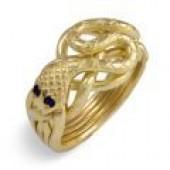 5S Ladies 14K White Gold w/ Sapphires