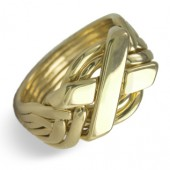 6N Men's 18K Yellow Gold