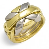 7NSP Men's 18K Gold and Platinum