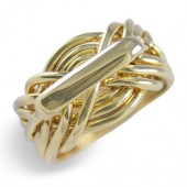 9WA Men's 18K Yellow Gold
