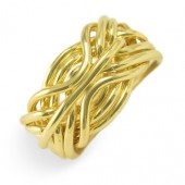 9FD Men's 14K Yellow Gold